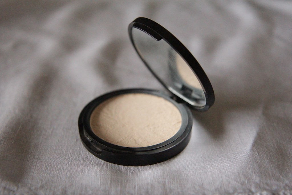 Pressed powder foundation from The All Natural Face (in warm beige)